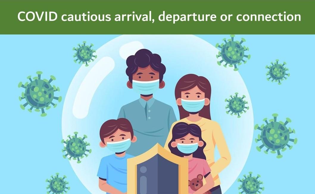 COVID care at Delhi airport India